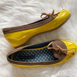 Tommy Hilfiger Alpine Yellow Patent Boat Shoes 5M